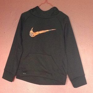 Boys Hooded Nike Sweatshirt Black with Orange S 5